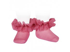 frill tulle ankle socks bluher