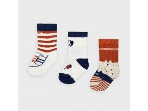 Mayoral set 3 párů novorozeneckých ponožek 9305-013