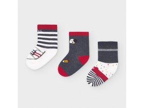 Mayoral set 3 párů novorozeneckých ponožek 9305-010