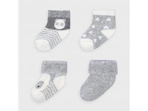 Mayoral set 4 párů novorozeneckých ponožek 9302-078