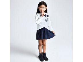 Mayoral Dívčí  šaty s všitou sukýnkou 4986-061