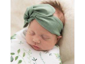 Snuggle čelenka zelená