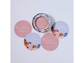 Oboustranné karty milníků Vintage Blossom