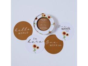 Oboustranné karty milníků Sunflower