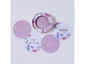 Oboustranné karty milníků Lilac Skies