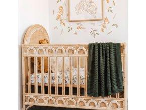 Pletená novorozenecká deka olive