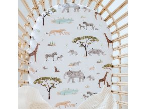 Bavlněné prostěradlo Safari