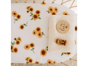 Bavlněné prostěradlo Sunflower