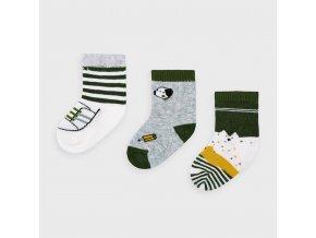 Mayoral set 3 párů novorozeneckých ponožek 9305-011