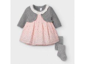 Mayoral novorozenecké šaty s  punčochami 2869-036