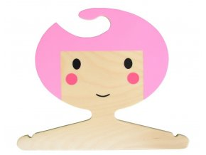 red hand gang kids clothes hanger pink sh