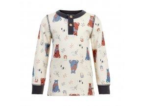 CeLaVi dětské vlněné triko s dlouhým rukávem 5359-136