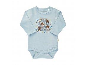 Minymo novorozenecké chlapecké body s dlouhým rukávem 111301-7155