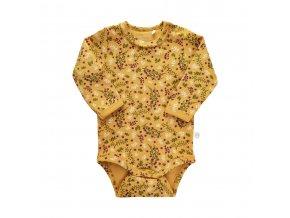 Minymo novorozenecké dívčí body s dlouhým rukávem 111350-3139