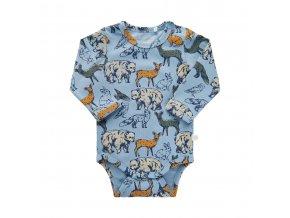 Minymo novorozenecké chlapecké body s dlouhým rukávem 111350-7922