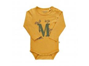 Minymo novorozenecké dětské body s dlouhým rukávem GOTS 111352-3139