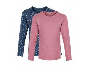 Minymo  dívčí triko s dlouhým rukávem set 2 ks 3935-585