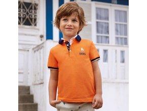 Mayoral chlapecké polo tričko oranžové 3113