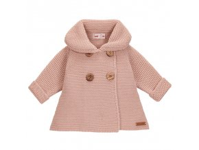 abrigo con punto bobo rosa empolvado