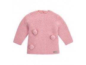 jersey punto bobo con pompones rosa palo