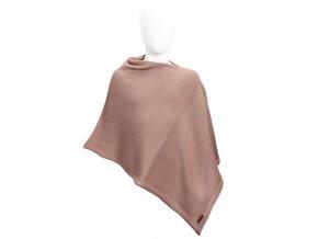 poncho lana merino mezcla rosa empolvado