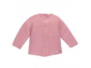 jersey punto bobo con trenzas centrales rosa palo