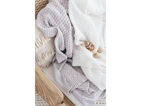 Pletená novorozenecká deka šedá