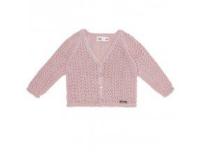chaqueta calada nina rosa palo