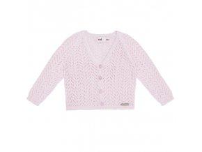 chaqueta calada nina rosa