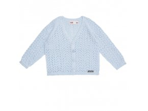 chaqueta calada nina azul bebe