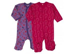 Pippi novorozenecký dětský overal set 2 ks 3821-569