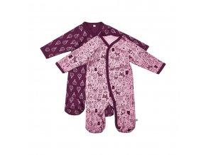 Pippi novorozenecký dětský overal set 2 ks 3821-600