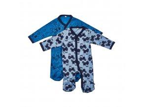 Pippi novorozenecký dětský overal set 2 ks 3821-725