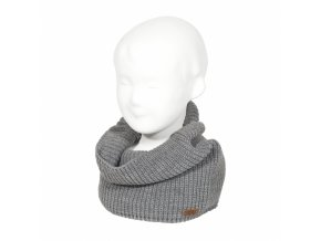 english rib stitch tube scarf light grey