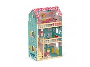 J06580 Dreveny domcek pre babiky Barbie Happy Day 12 ks nabytku 1