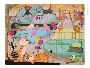 J02774 Puzzle dotykove Den v zoologickej zahrade Janod s texturou 20 dielov od 3 6 rokov a