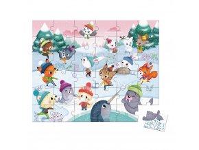 J02662 Janod puzzle party na snehu 36 ks 01