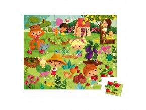 J02663 Janod puzzle zahrada 36 ks 01