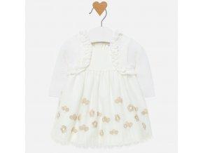 Mayoral novorozenecké šaty s kabátkem 2814