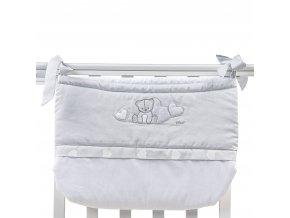 Picci kapsář na dětskou postýlku Amelie PC762822 - šedá