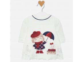 Mayoral novorozenecké fleece šaty 2808