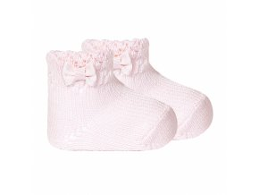 perle openwork ankle socks with bow