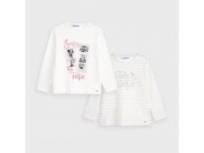 Mayoral dívčí set 2 kusů triček s dlouhým rukávem 4066 - 087