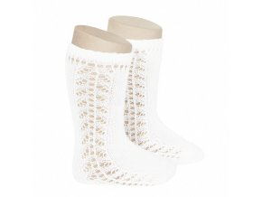 baby side openwork knee high socks white
