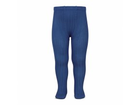 wide rib basic tights indigo blue