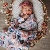 Organická mušelinová zavinovací plena Rainbow Baby