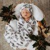 Bavlněná zavinovačka / šátek s čepičkou set Quill
