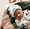 Snuggle Hunny Kids kojenecká čepice Eucalypt s uzlíkem GOTS  Organická bavlna, GOTS