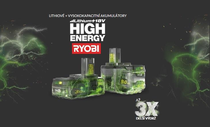 Ryobi - velkokapacitní akumulátory ONE+
