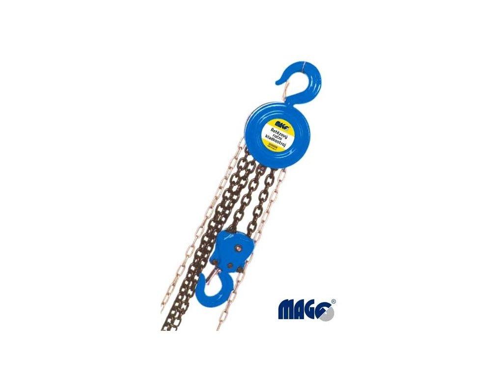 Magg 120008 Řetězový kladkostroj ruční, zdvih 3m nosnost 2t